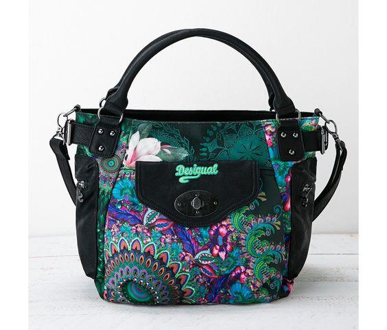 Bolso verde y azul | Desigual.com