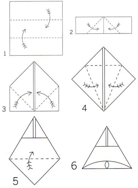 Origami Rabbit Using Napkin Diagram