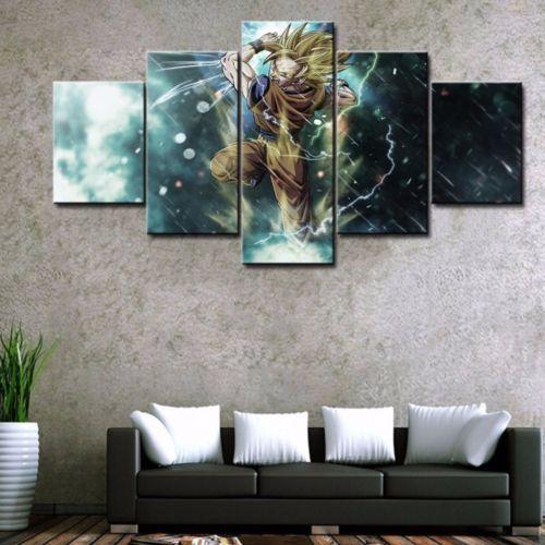 HD Print Oil Painting Home Decor Art on Canvas Dragon Ball 5PCS Unframed