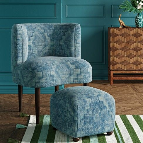 Clary Curved Back Accent Chair Opalhouse Target Blue Accent