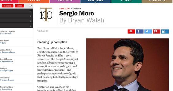 Sérgio Moro aparece na lista dos '100 mais influentes' da revista 'Time'