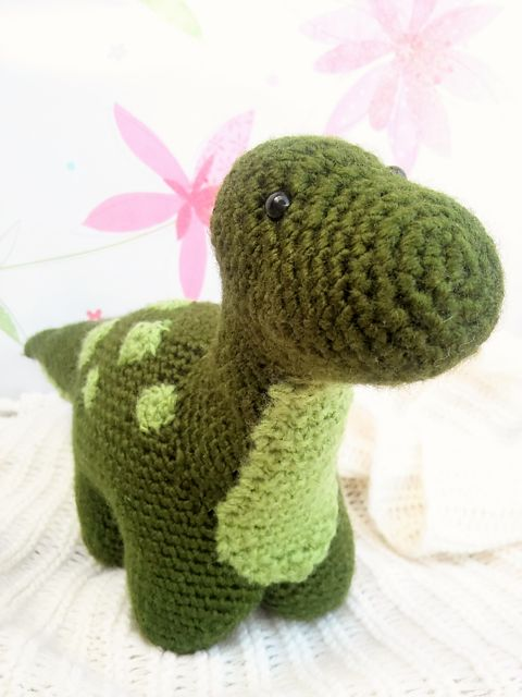 Amigurumi Dinosaur Pattern Free : FREE Ravelry: Dexter the Dinosaur amigurumi pattern by ...