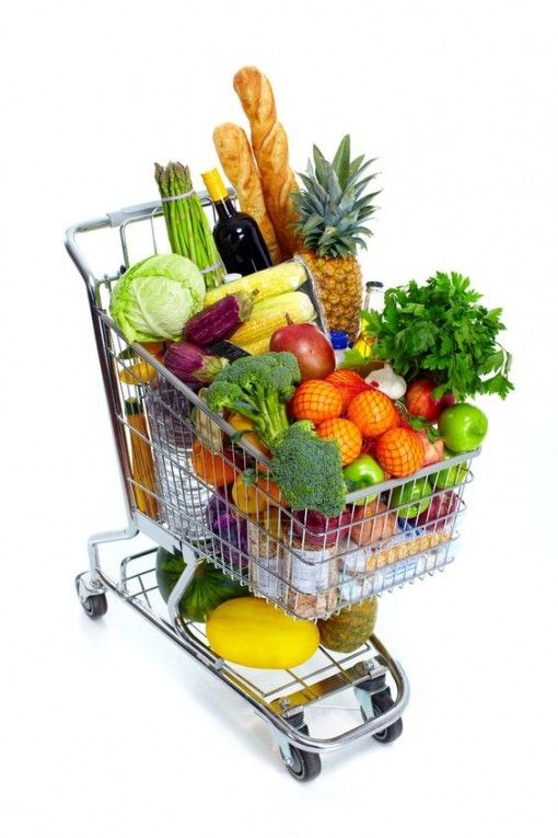 It would be great if we saw carts that looked like this when we went into the grocery store. Most of the time it is chemical filled junk food.