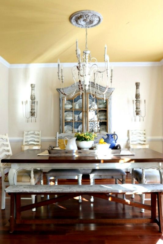 Savvy southern style the dining room sconces rustic for Southern dining room