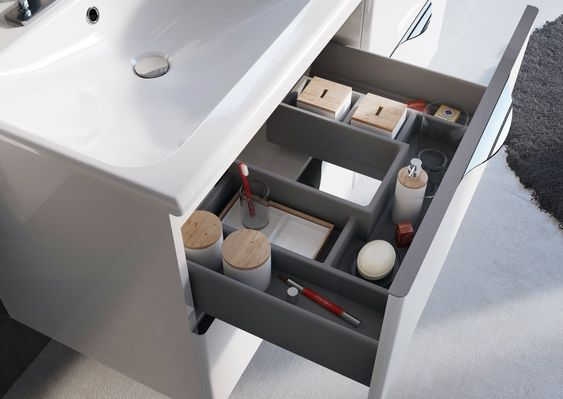 #ambio #collection #white #organizer #luxury #practicality #elita #meble #elitameble #meblełazienkowe: