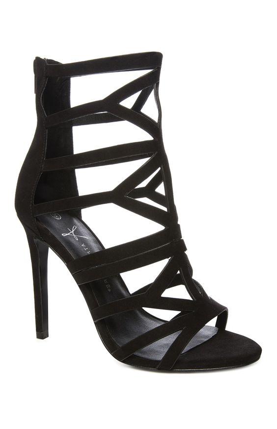 Primark - Zwarte sandaal in Gladiator-look met hoge hak