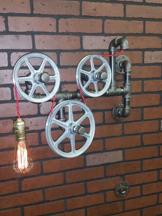 murale lampe lumire de salle de bain applique murale pendentif vintage poulie industrielle - Appliques Vintage Industrielles Pour Salle De Bain