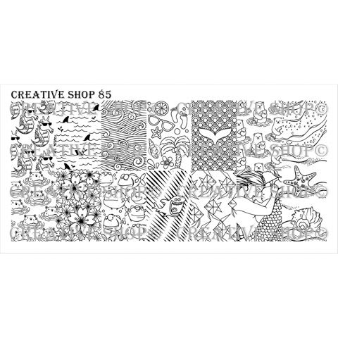 Creative Shop- Stamping Plate- 85