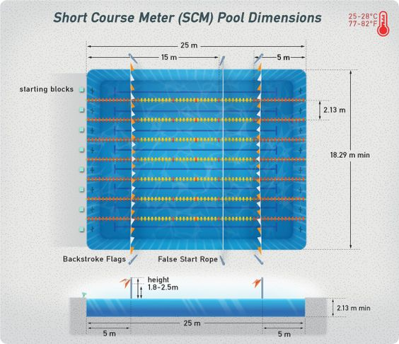Short Course Swimming Pool Dimensions Swimming