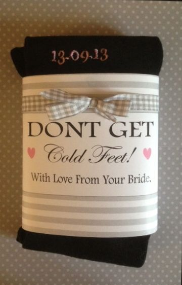 GROOM's socks for the big day. A lovely gift from the WIFE to be! Personalised wedding date, £10. mailto:Info@lush-stuff.com