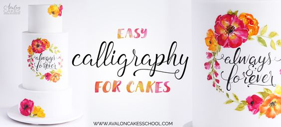 Easy calligraphy for cakes