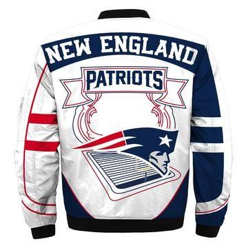 New England Patriots Bomber Jacket Nfl New England Patriots Apparel In 2020 With Images New England Patriots Apparel Bomber Jacket Custom Bomber Jacket Winter