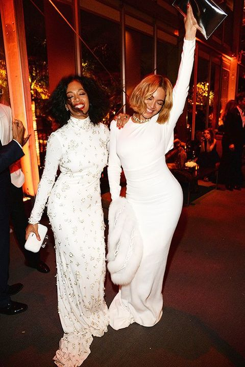 Beyoncé and Solange at Oscar after party