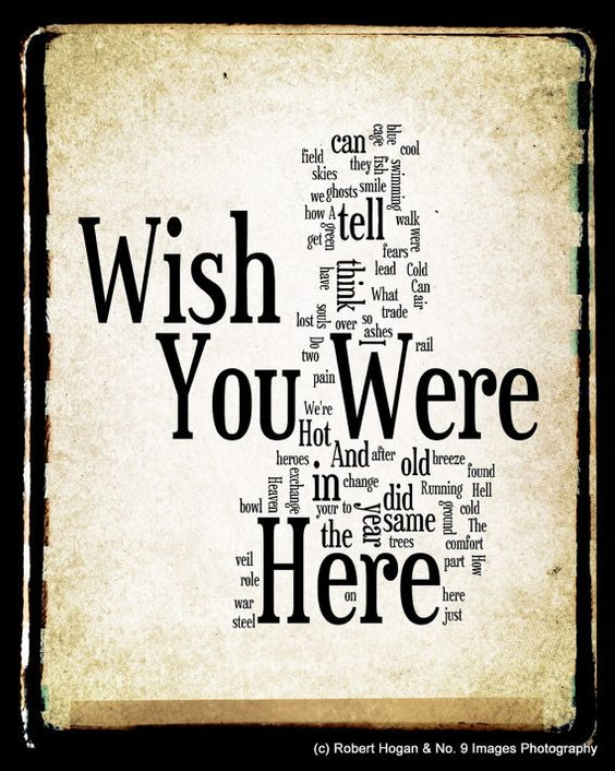 Guitar guitar tablature wish you were here : Wish You Were Here Lyrics - Pink Floyd Word Art - Word Cloud Art ...