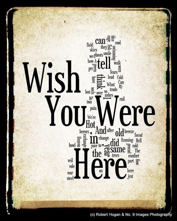 Guitar guitar tablature wish you were here : Wish You Were Here Lyrics - Pink Floyd Word Art - Word Cloud Art ...