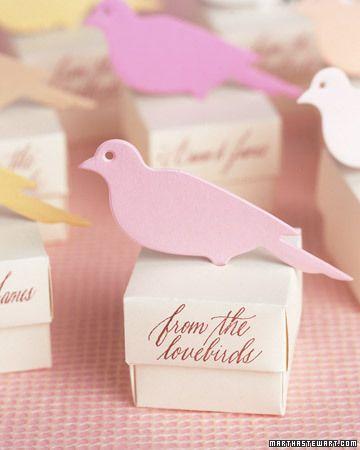 Bird wedding favors