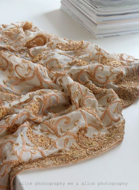 gold embroidered shawl <3