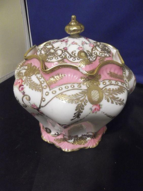Hand Painted Noritake Nippon Hand Painted Tea Ginger Jar