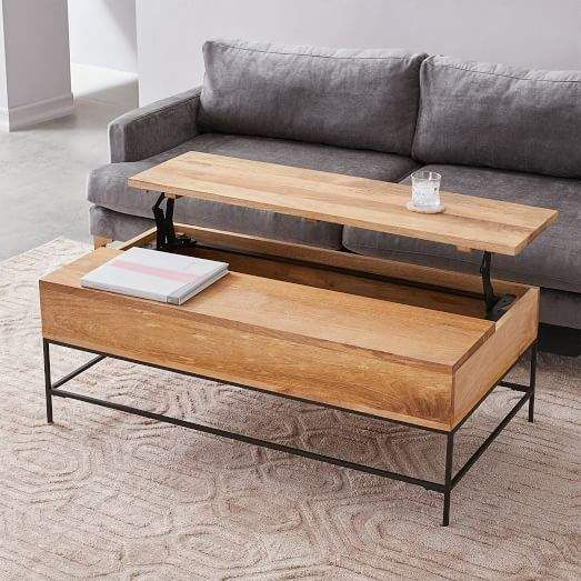 West Elm Industrial Storage Pop Up Coffee Table Large Coffee