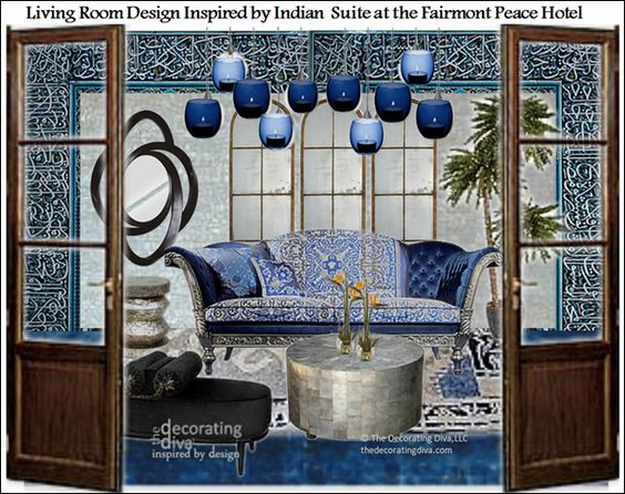 moodboard inspired by indian suite at fairmont peace hotel