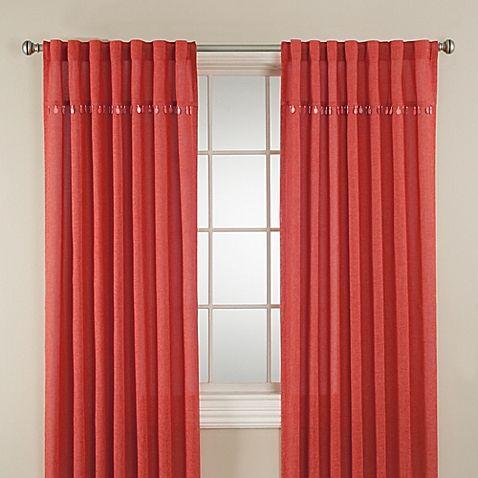 Chelsea 108-Inch Window Curtain Panel in Coral | WoodsLoop ...