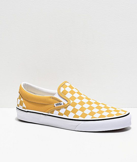 Vans Slip-On Ochre Checkerboard Skate
