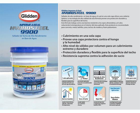 Hydrosteel 9900 te ofrece cubrimiento en una sola capa.
