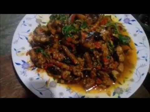 ผ ดเผ ดปลาไหล ใส ด ปล พร กไทยสดใบกระเพรา สม นไพรล วนๆ Youtube อาหาร