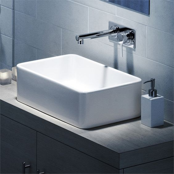 Basin Over Counter Cube 550 Nth White 683400w I N 4874877   Bunnings  Warehouse. Basin Over Counter Cube 550 Nth White 683400w I N 4874877