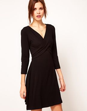 Warehouse Wrap Dress - black wrap dress CuteWorkOutfit  Work ...