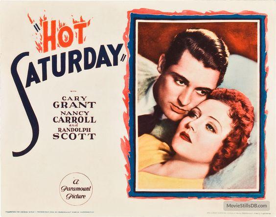 Hot Saturday - Lobby card with Cary Grant & Nancy Carroll