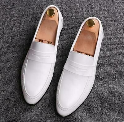 Mens Leather Dress Shoes Pointy Toe
