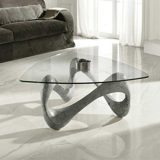 Glas Couchtisch in Grau Stein Jetzt bestellen unter https - glastische f r wohnzimmer