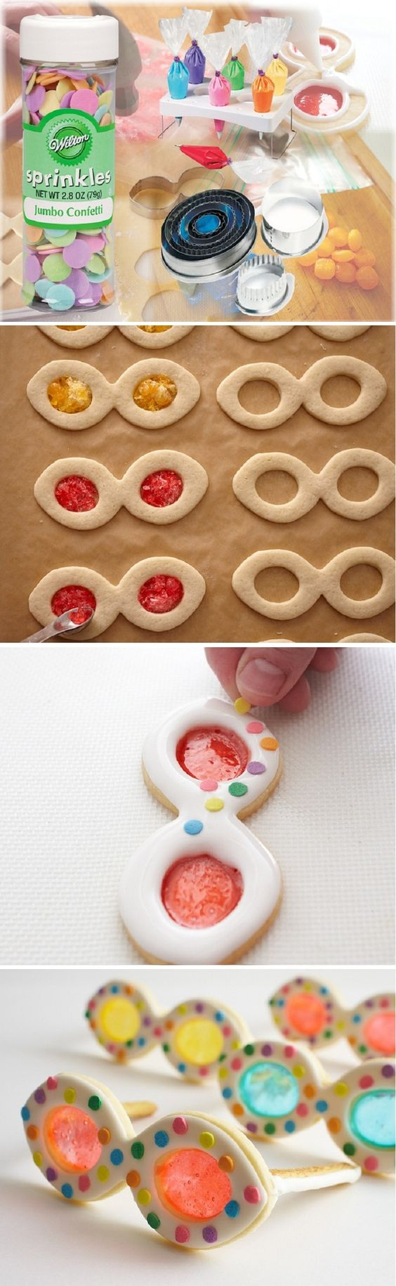 Summery Sunglasses Cookies; this would be so cute to make masquerade cookies for Mardi Gras!  Cupcakepedia