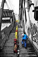 Valpo Urbano! (LF Sesiones Fotogrficas.-) Tags: flores color blanco valparaiso negro escalera luis hombre valpo