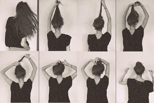 How to tie a perfect bun