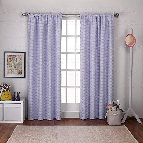Exclusive Home Curtains Polka Dot Jacquard Blackout Window Curtain Panel Pair With Rod Pocket 54x84 Li Panel Curtains Rod Pocket Curtain Panels Home Curtains