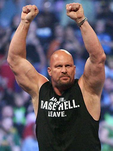 De hecho, es mi segundo wrestler favorito tras Shawn Michaels, es Stone Cold Steve Austin, otro campeón para quien no pasa el tiempo, como The Rock, Undertaker y Triple H...para mi es aparecer en la WWE y regresar al pasado...traen el autentico wrestling al presente con su mera presencia...esa rivalidad contra otro campeón, The Rock...