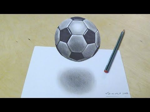 How To Draw Soccer Football Drawing 3d Floating Soccer Ball Vamos Youtube Football Drawing Drawings Ball Drawing
