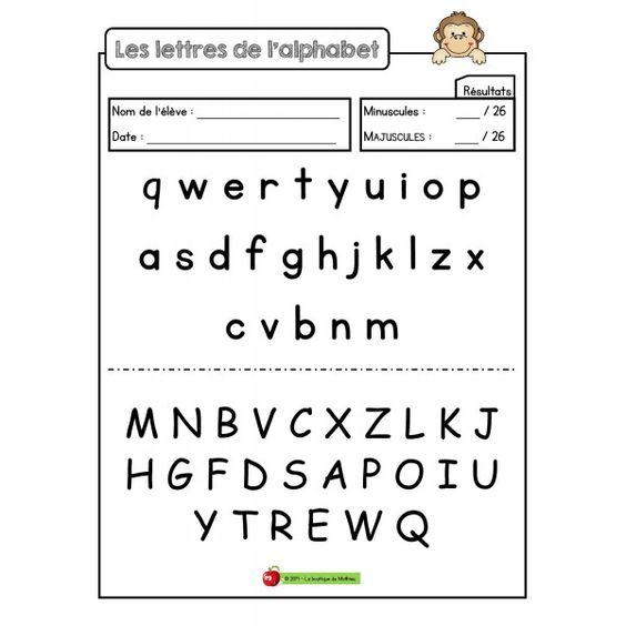 Les lettres de l'alphabet (test)