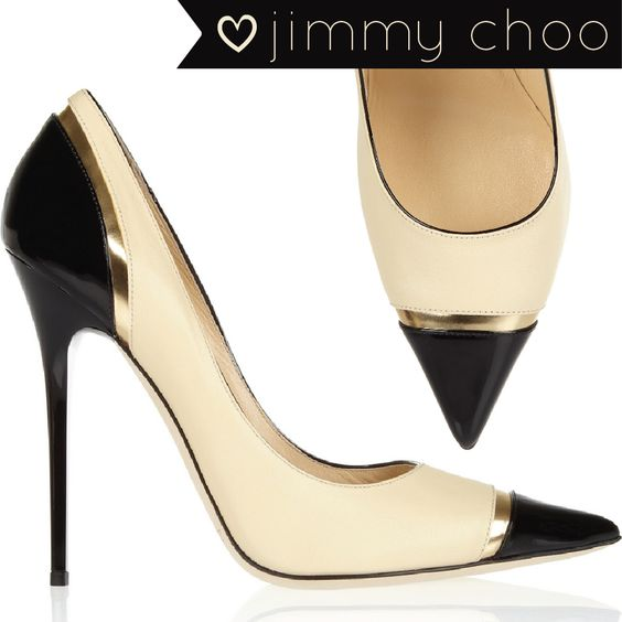 Jimmy Choo Shoes | Jimmy Choo - Limit tri-tone leather pumps - Shoe Envy on Haute - A ...