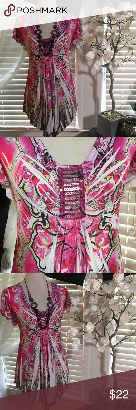 CATO TOP Adorable top I perfect condition, made of polyester and spandex Cato Tops Blouses