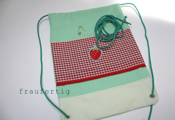 fraufertig: turnbeutel step by step/tutorial