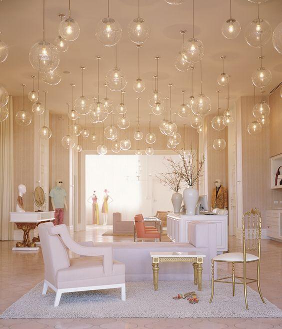 Kelly Wearstler Interior Design For Trina Turk Store Globe Pendant Heaven