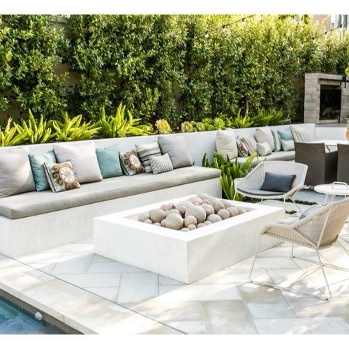 Landscape Design And Home Decor And Garden Retail Showroom Newport Beach Corona Del Mar L Outdoor Fireplace Patio Garden In The Woods Outdoor Seating Areas