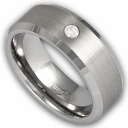 8MM Men's Tungsten Ring Satin Center with Simulated Diamond. Engraving is available for this ring at #ringninja. $69.99.     http://ring-ninja.com/tungsten-ring-diamond-rntu082.html