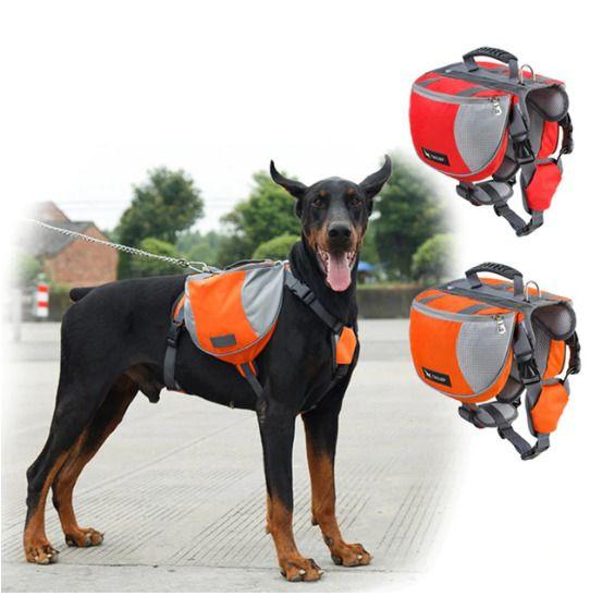 Reflective Pet Outdoor Backpack Large Dog Pitbulls Bag Carrier For Travel Hiking Unbranded Dog Backpack Dog Hiking Pack Dog Backpack Hiking