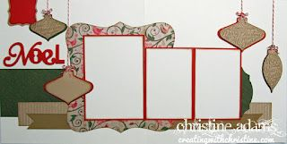 Creating with Christine: Ornamental Cheer Layout