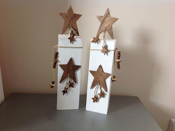 Vorlagen FUr Weihnachtsdeko Aus Holz ~ Weihnachtsfiguren  Holzpfosten Set Sterne Weihnachtsdeko  ein