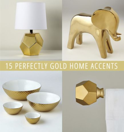 15 Perfectly Gold Home Accents
